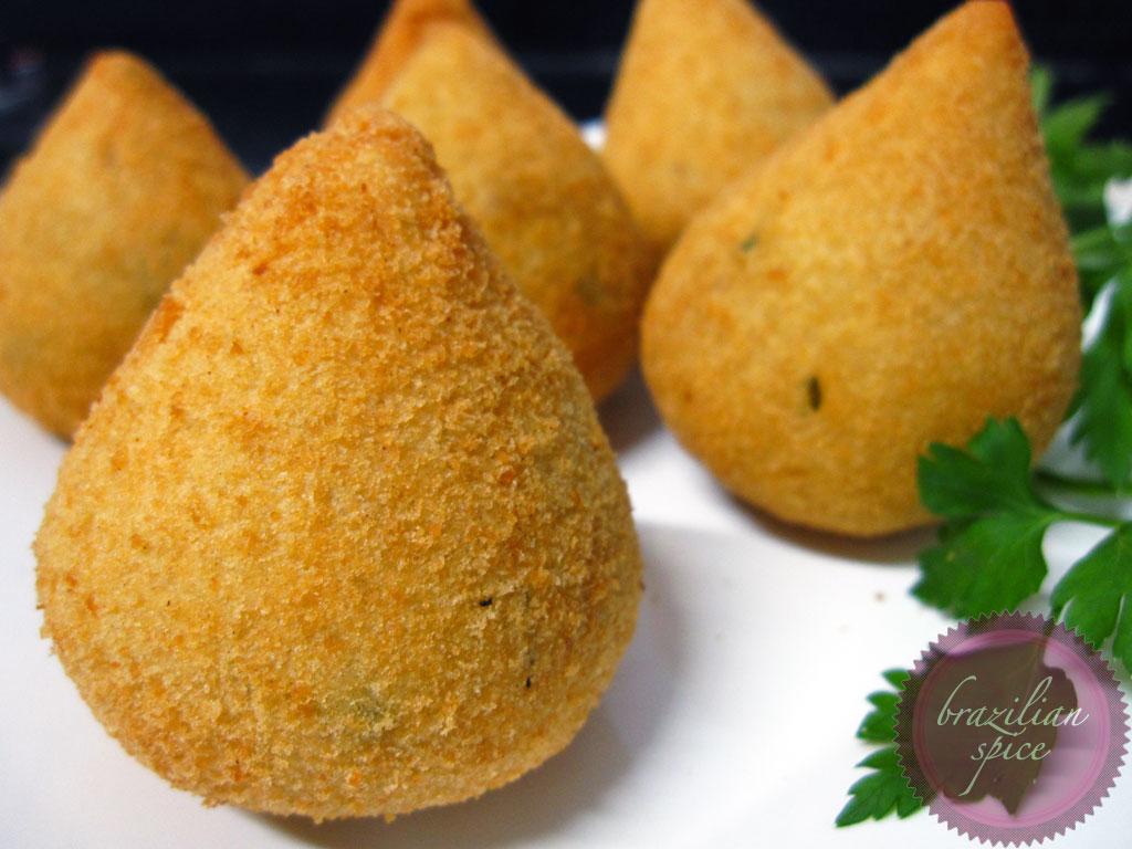 Coxinha de Batata  As Extraordinárias Aventuras Culinárias de